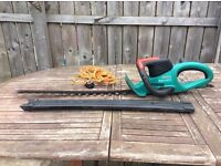 Bosch electric hedge trimmer.