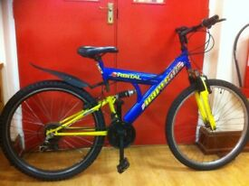 "Men's Mountainbike - fully refurbished 20"" Harlem: 18-speed, dual suspension"
