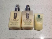 Clinique dramatically different moisteriser 2 x 125ml and one travel size