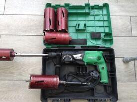 24 volt hitachi cordless hammer drill all so hitachi 18 volt hammer drill with 4 core drill bits a
