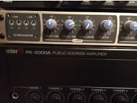 Inter m pa 2000a public address amplifier