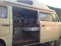 VW T25 campervan vgc hi top all in good working order mot until sept 17. Bodywork and engine good