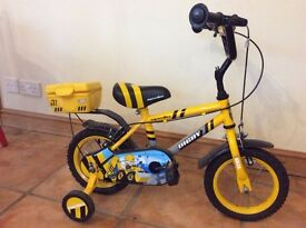 "Child's bike (12"" wheel) with stabilisers"