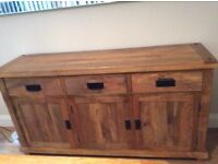 Oak Furniture Land Natural Sideboard (Solid Mango)