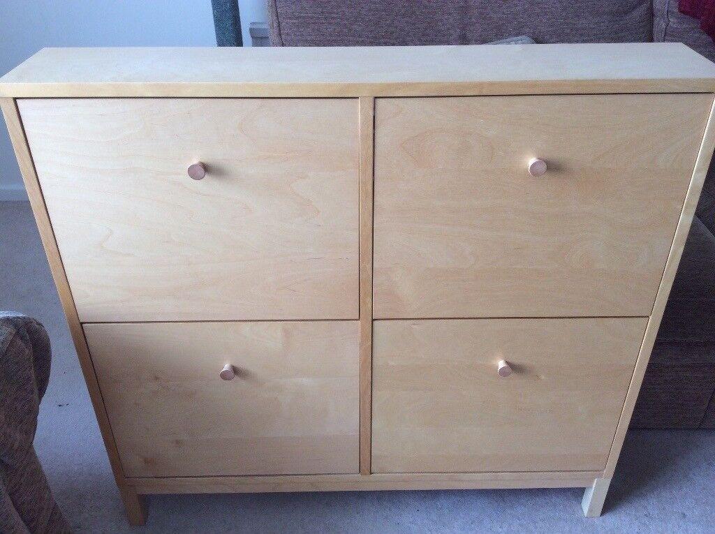 Svært Ikea Sandnes Shoe Cabinet - Beech | in Witney, Oxfordshire | Gumtree IZ-84