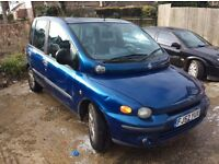 Fiat Multipla 1.6. Starts and drives great. Low miles mot expired. £95
