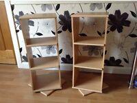 Shelf swivel tables