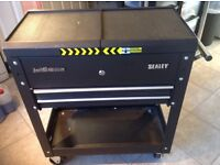 Sealey tool trolley with tools