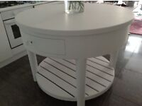 Shabby chic Country contemporary Round Kitchen Island, Butchers, Free standing table 4ft in diameter