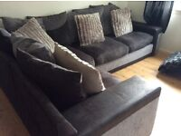 Fabric Corner sofa grey/black