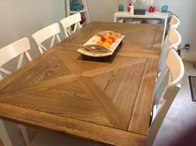 Table and six chairs for sale