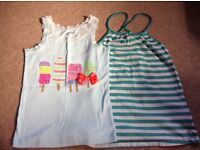 Two girls summer tops from Gap size 8-9yrs
