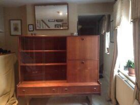 1960-70 Teak Cocktail Display Cabinet