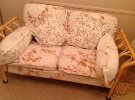 Matching set of cane furniture for sale - excellent condition!
