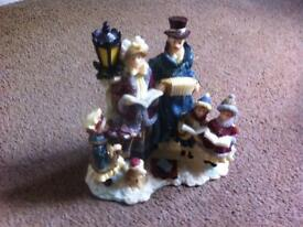 Victorian Family Carol Singers Figurine