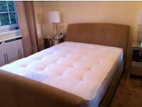 Next double bed suede effect