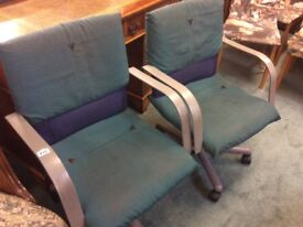 Pair of Vintage Designer Office Chairs