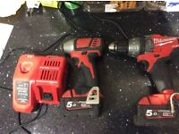 Milwaukee m18 impact and combi kit