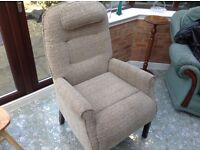 Arm chair upholstered