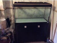 Fish tank and cupboard