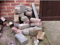 Free used bricks and edge stones