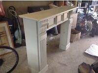 Wooden large (painted) fireplace surround