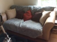 Leather Sofa Bed 183 CM wide