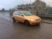 Vauxhall corsa 1.2. 04 plate. MOTD may. TAXD. £375