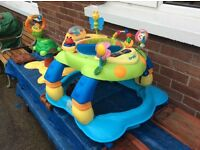 Free baby walker and baby sitting toy
