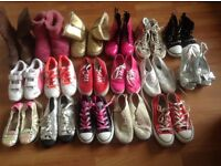 Girls shoes and boots 17 pairs mostly sizes 3&4