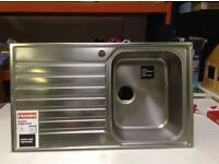 Selection of Stainless Steel Sink Units (new and slighty shop soiled)