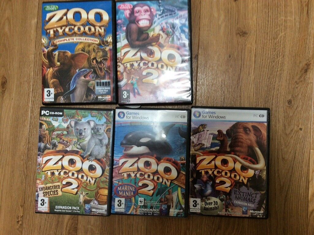 Zoo tycoon 2 pc games includes endangered species,marine mania,extinct  animals expansion packs | in Thatcham, Berkshire | Gumtree