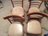4 kitchen/dining room chairs ?bentwood chairs