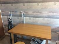 Teak effect table seats 4 good condition