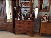 Beautiful solid wood antique dressing table