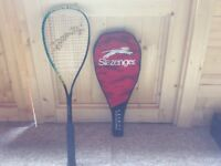 Slazenger Squash racket and cover in mint condition