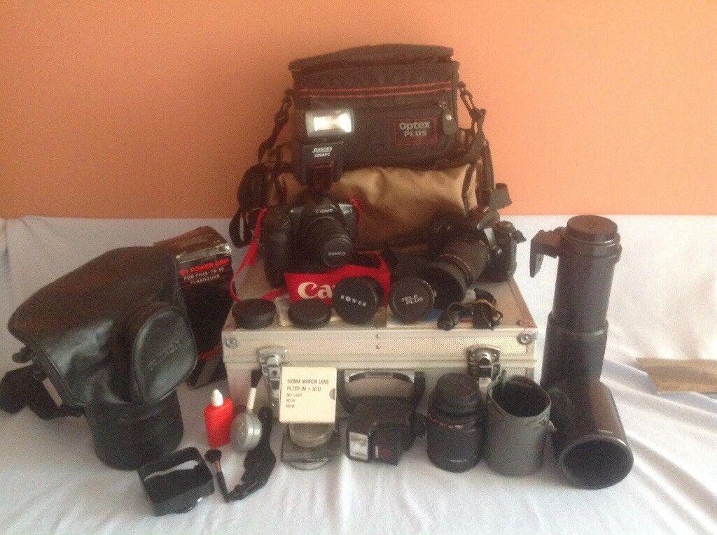Canon Film cameras and lenses