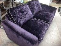 Purple crushed velvet 3seater sofa