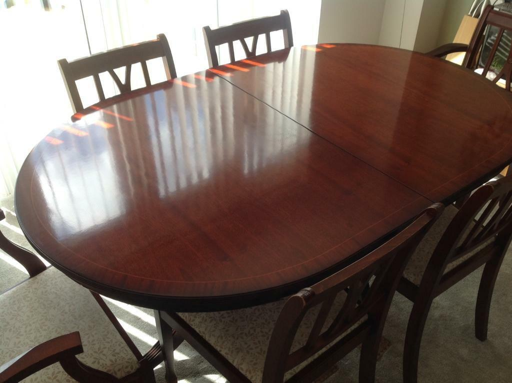 Mahogany Dining Table With 6 Chairs In Stevenage Hertfordshire Gumtree