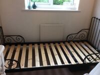 Ikea metal bed and mattress