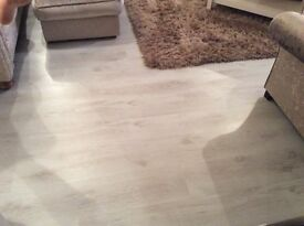 White wooden flooring 25 square meters