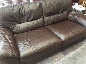 DFSLeather 3 seater sofa good condition
