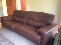 Leather sofa x-large 4 seater