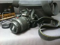 NIKON D3000 DSLR CAMERA - Excellent condition great value