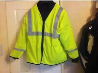 motorcycle hi viz jacket long sleave xl 54inch with zip