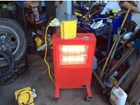 Clarke commercial infrared heaters ideal for garage workshop office or even your conservatory 110 V