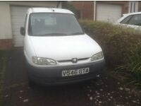 Peugeot Partner Van needs some TLC but very Reliable