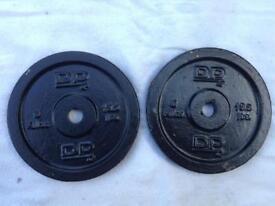 4 x 6kg DP Fitness Standard Cast Iron Weights