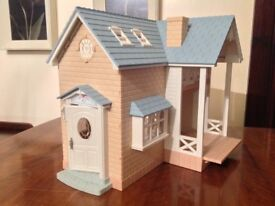 Sylvanian Families Bluebell Cottage Bakery, Caravan, MM Car, 4 Family Sets Classic Furniture Set etc