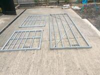 Galvanised paddock gates